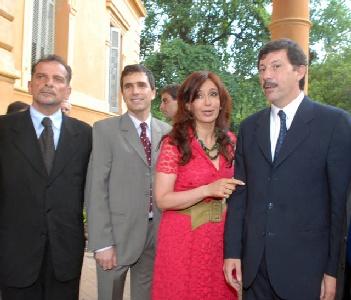Foto Archivo: Cristina Fernández en su anterior visita a Villa Ocampo