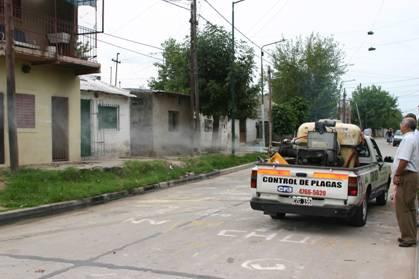 Fumigan contra el dengue en Beccar