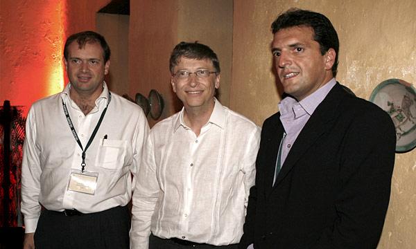Sergio Massa se reunió con Bill Gates en Colombia