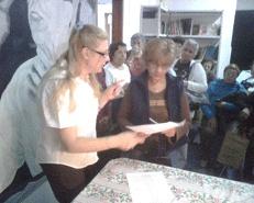 La Coordinadora de Políticas Sociales del Ministerio de Desarrollo Humano de la Provincia de Buenos Aires y referente del Frente para la Victoria de Tigre, Sonia Gatarri, entregó 207 jubilaciones