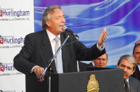 Kirchner inauguró una planta cloacal en Hurlingham