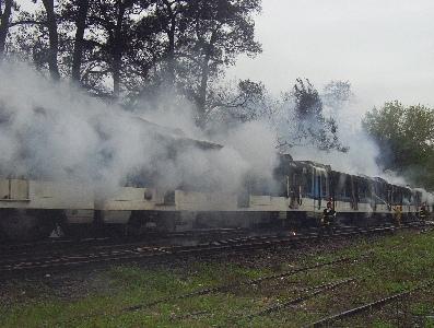Un tren se incendi� entre las estaciones de San Fernando y Virreyes.