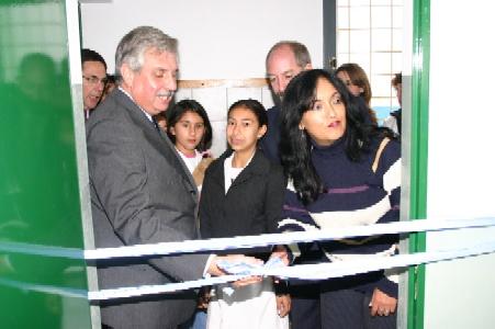 Ernesto Casaretto inauguro el aula biblioteca de la Escuela 22 de Don Torcuato