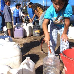 Provisi�n de agua potable