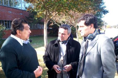 Julio Zamora y Daniel Gambino recorrieron la planta de la empresa Ford