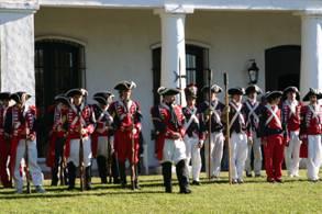 Colorida recreación de la Reconquista y los sucesos históricos de Mayo de 1810