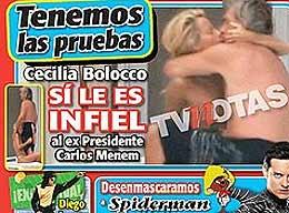 Menem habló sobre su divorcio con Cecilia Bolocco
