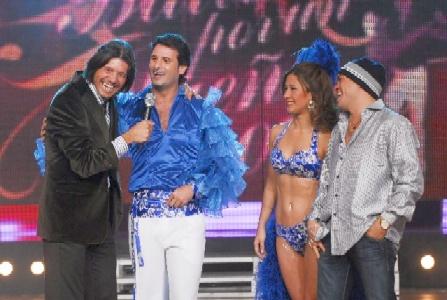 Tinelli con José María Listorti que reemplazará a la Hiena Barrios -en la foto, con su pareja de baile Estefanía Canedi
