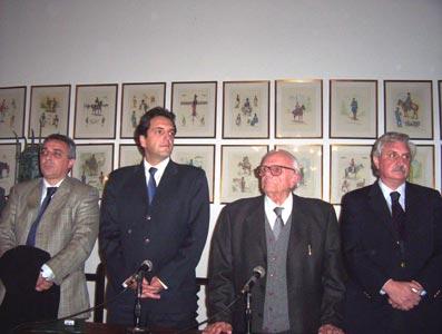 Sergio Massa junto a Hiram Gualdoni, Ernesto Casaretto y Julio Zamora.