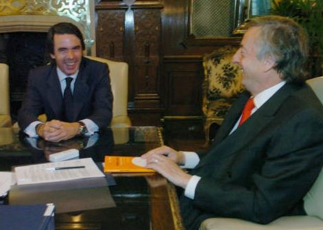 Kirchner se reunió con el ex presidente José María Aznar