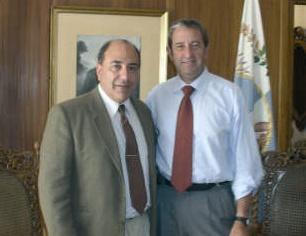 Oscar Zacca, junto al Ing. Julio Cobos