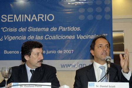 El Intendente de San Isidro Gustavo Posse junto al Vicepresidente Daniel Scioli