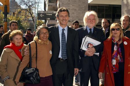 Macri y Blumberg, juntos durante la campa�a porte�a.