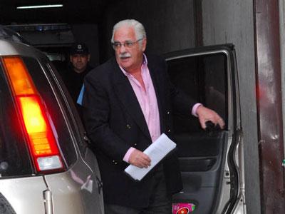 Carrascosa llegando a los tribunales de San Isidro
