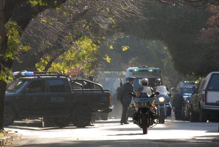 Una ambulancia del SAME lo trasladó de urgencia al Hospital Fernández