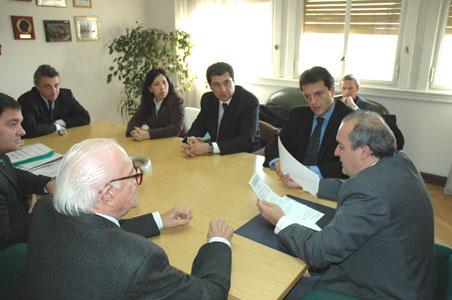 El Director Ejecutivo de ANSES y líder del Frente para la Victoria de Tigre, Sergio Massa se reunió con el Secretario de Obras Públicas de la Nación, Ing. José López y el Intendente de Tigre, Hiram Gualdoni