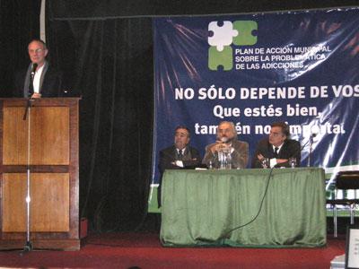 el Ministro de Salud Provincial, Lic. Claudio Mate, se presentó en el Ateneo Esteban Echeverría