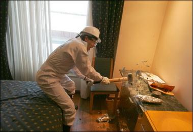 Ocho estresados destruyen un hotel en Madrid