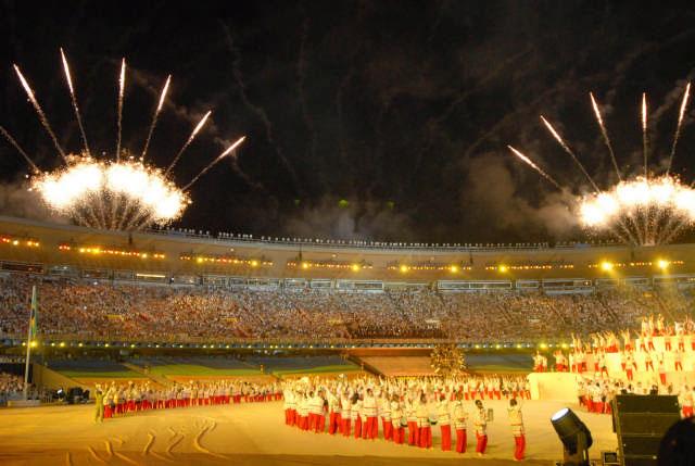 Colorida ceremonia inaugural de los juegos Panamericanos