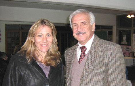 Mónica Neffke, Titular del  ANSES Tigre en conjunto con el  Presidente del IPS, Alejandro Ballester