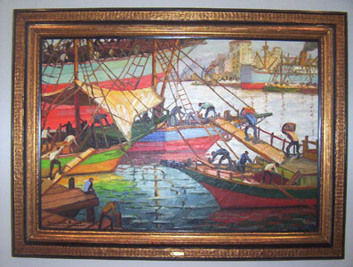 Homenaje a Quinquela Martín en el Museo de Arte Tigre