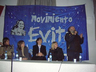 Acto homenaje a EVITA en San Isidro