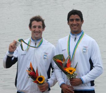 La dupla Bergero - De Torres logró la medalla de plata en canotaje