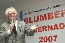 El empresario Juan Carlos Blumberg, anunció su decisión de presentarse como candidato a Gobernador por la Provincia de Buenos Aires