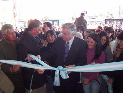 Inauguración del centro de salud del barrio Baires