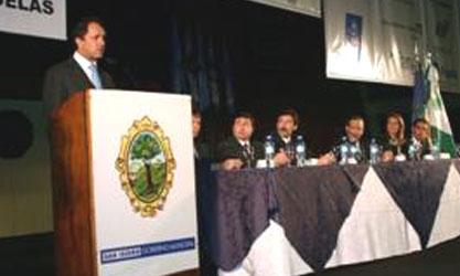 Scioli y Posse inauguraron el V Encuentro de Jóvenes Emprendedores