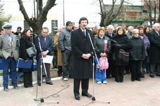 El intendente Posse presidió el acto central de homenaje por el 157º aniversario del fallecimiento del Libertador
