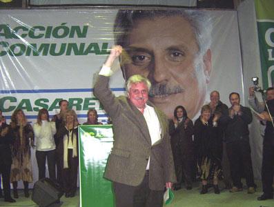 El Candidato a intendente de Tigre por Acción Comunal, Ernesto Casaretto, presentó anoche su candidatura ante más de 1500 vecinos de Don Torcuato