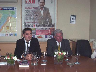 Fabián Tinto y su Equipo de Cambio y  Progreso en la Presentación de la Propuesta de Paseos Comerciales en San Fernando