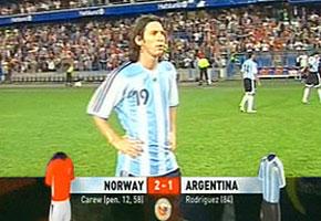 Argentina perdió con noruega en un amistoso muy frío