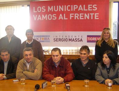 Los municipales de Tigre apoyan la candidatura de Sergio Massa