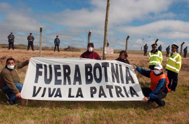 Sin incidentes los asambleístas llevaron su protesta a Uruguay