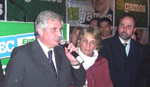 El Candidato a Intendente de Tigre por Acción Comunal, Ernesto Casaretto