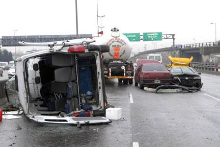 Una persona grave por el accidente en Panamericana