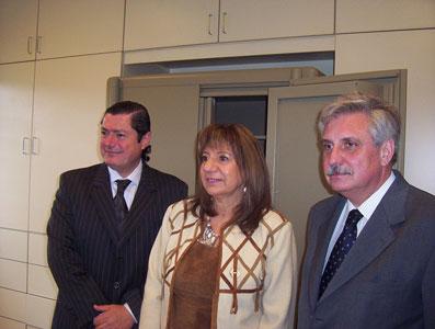 Novo, Falbo y Casaretto recorren las instalaciones de la flamante fiscalía de El Talar