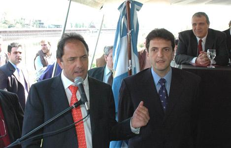 Scioli y Massa se comprometieron a senear el Reconquista
