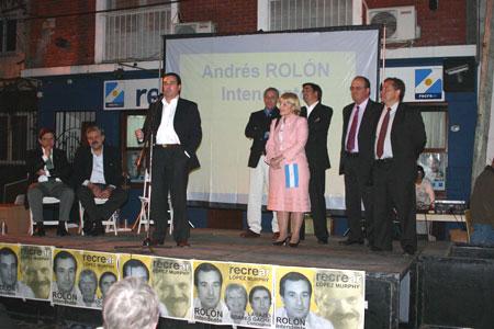 El Jueves 20 Ricardo López Murphy recorrió San Isidro