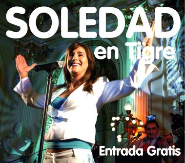 Soledad cantará gratis en Tigre