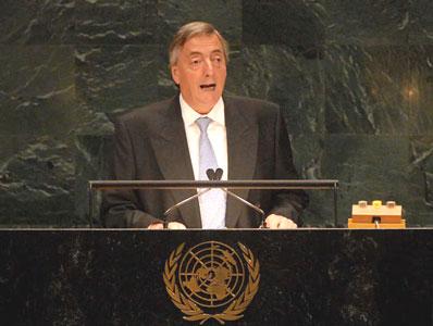 Kirchner en la ONU