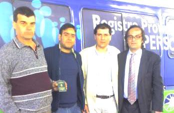 El concejal Daniel Gambino junto al Dr. Rodrigo Molinos, Jefe Distrital del Registro Provincial de las Personas de Tigre
