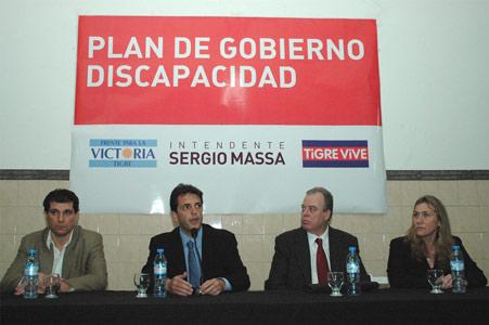 Sergio Massa presentó en Tigre su programa de integración para la discapacidad