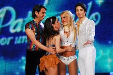 Marina Calabró quedó eliminada de Patinando por un sueño (foto Ideas del Sur)