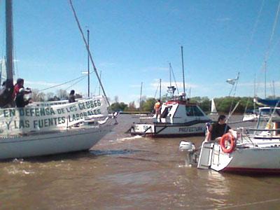 Caravana de embarcaciones rodeará el Salón Náutico Argentino en protesta