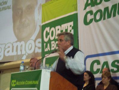 Ernesto Casaretto, candidato a Intendente  de Acción Comunal