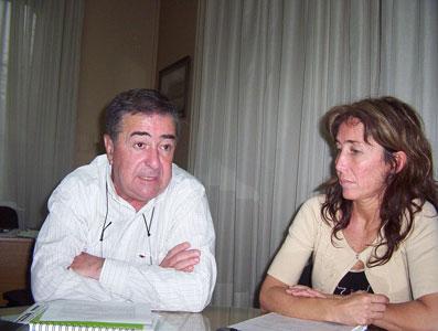 El Secretario de Planificación de San Fernando, Ramón Esteban junto a la titular de CACEL Andrea Arneodo