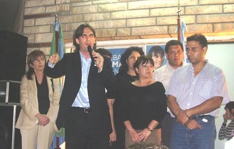Sebastián Galmarini presentó sus propuestas a los vecinos de Beccar